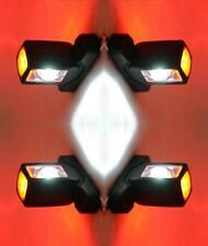 4X SIDE REAR RUBBER MARKER OUTLINE LED RED WHITE ORANG LIGHTS LAMP INDICATOR 12V