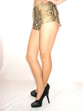 AE48 Vintage Sexy Hot Pants Shorts High Waisted Animal Snake Print Party Fetish