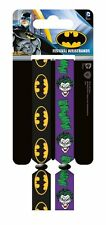 DC Comics Batman Joker Pack Of 2 Fabric Festival Wristbands BY PYRAMID FWR680017