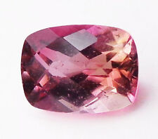 Watermelon Tourmaline 1.67 ct Pink Green Cushion Cut 9x7 mm