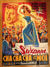 AFFICHE CINEMA lithographie 1957 SUZANNE CHACHACHA ET MOI Abbe Lane Belinsky