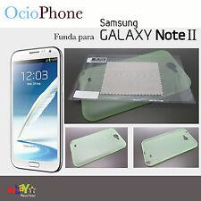 Funda verde para Samsung Galaxy Note 2 N7100 carcasa Note2 N 7100 + protector