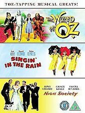 THE WIZARD OF OZ / SINGIN' IN THE RAIN / HIGH SOCIETY ** BRAND NEW ** 3 DVD SET