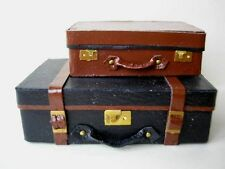 KIT 1/12th SCALA LEATHER TRUNK & Valigia-Vintage bagagli custodia borsa HB