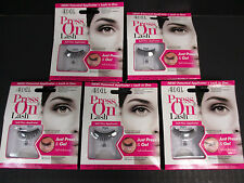 NEW! 5 PAIRS ARDELL PRESS ON LASH - 101 BLACK- APPLICATOR + LASH IN ONE - EL 135