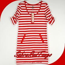 NWT HANNA ANDERSSON ELSA STRIPE TUNIC DRESS APPLE RED WHITE XS 2