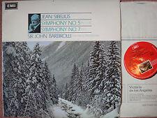 ASD 2326 Sibelius Symphonies 5 & 7 / Barbirolli - NM