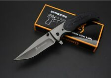 New Browning 377 Tactical Folding Pocket Knife 440 Blade Camping Knife