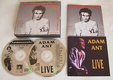 Adam Ant / The Ants Antmusic Ltd Double CD with Live Cd extra insert