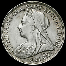 1897 Queen Victoria Veiled Head Silver Shilling – EF