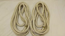 "NEW Pair (2) 3/4"" x 15' Double Braid Nylon Dock Line, Mooring, Anchor Rope, Boat"