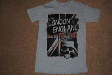 Londres Inglaterra De Union Jack Bandera Calavera Corona T camisa pequeña Nuevo Punk Metal Goth