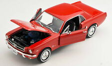 BLITZ VERSAND Ford Mustang 1/2 Coupe 1964 rot / red Welly Modell Auto 1:24 NEU