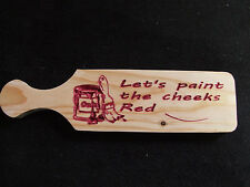 Custom Carved Wood Novelty School Fraternity Sorority OTK Paddle - Paint Cheeks