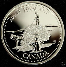 Canada 1999  Silver  Proof Quarter Dollar ~AUGUST~