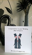 Gay Wedding Marriage Card Civil Partnership Men Male Personalised Mr Mr Same Sex