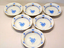 HEREND CHINESE BOUQUET BLUE OATMEALS BOWLS,NEW RETAIL $725.-,BRAND NEW BOXED
