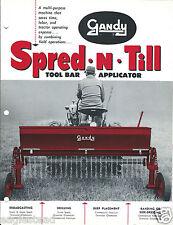 Farm Equipment Brochure - Gandy - Spred-N-Till - Tool Bar Applicator (F4378)