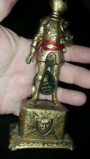 VINTAGE METAL KNIGHT STATUE w ORIGINAL ARNART FIFTH AVE TAG MADE IN JAPAN LOOK!