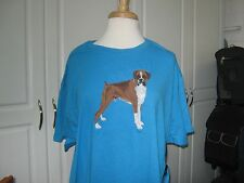 NEW BOXER FULL BODY VIEW EMBROIDERED  T-SHIRT ADD NAME FOR FREE