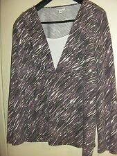 Millers Stretchy Purple Print Top  (Size 20)