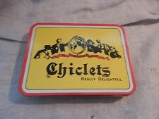 """Vintage Style Chiclets Gum """"Really Delightful"""" Tin"""