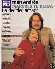 Coupure de presse Clipping 1999 Marguerite Duras & Yann Andréa  (4 pages)