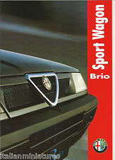 Alfa Romeo 33 Sportwagon Brio Italian 6 Page Brochure 1993 Mint Condition