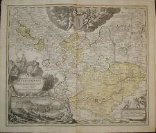 Old print willibaldsburg Eichstatt Germany Homann kupferstich stampa antica