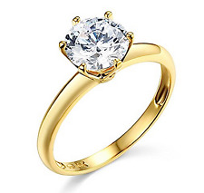 1 Ct Round Cut Solitaire Engagement Wedding Promise Ring Solid 14K Yellow Gold