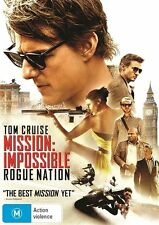 MISSION IMPOSSIBLE- ROGUE NATION (DVD, 2015) STARRING TOM CRUISE - LIKE NEW
