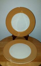WILLIAMS SONOMA Salad Plates PASSANO Made in Italy Orange-gold & White Set of 2