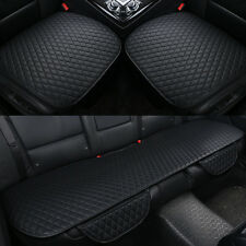 3D Surround Luxury Breathable PU Leather Full Car Seat Cover Set Cushion Black