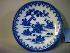 Japanese blue and white porcelain plate