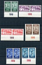 ROMANIA 1948 SPORTS PERF IMPERF SET PERFECT MNH B421-B424 +CB20-21 MARGIN PAIRS!