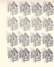 Huelga de 1971 servicio postal de correo King Arthur Caballeros Negro Imp Sellos X 16 estampillada sin montar o nunca montada
