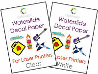 Water Slide Decal Paper LASER A4 Waterslide Transfer Sheets - ALL PACK SIZES