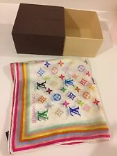 Louis Vuitton Silk Square Multicolour Murakami Scarf VGC