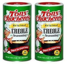 Lot of 2, Tony Chachere's ORIGINAL CREOLE SEASONING 17 oz. Total 34 oz. No MSG