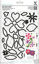 X cut 24 piece A5 die set FLOWERS Use Xcut Xpress, Cut n Boss or sizzix big shot
