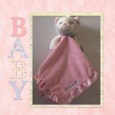 NEW CARTERS WHITE KITTY CAT LOVEY WITH PINK SECURITY BLANKET SATIN TRIM CARTER'S