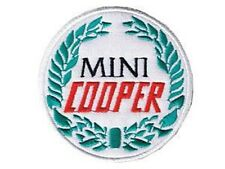 Mini Cooper round iron-on/sew-on cloth patch (os)