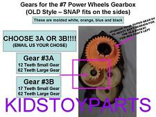1 Fisher Price Power Wheels #7 Gearbox Gears: GEAR #3 TEETH ARE 12/62 or 17/62