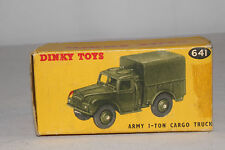 1950's Dinky #641, 1 Ton Military Cargo Truck Original Box