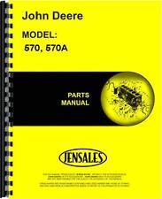 John Deere Grader Parts Manual (570 Grader   570A Grader)