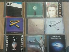 9 Mike Oldfield cds. Tubular bells 1and 2,crises,amarok,5 miles out ,QE2,+more