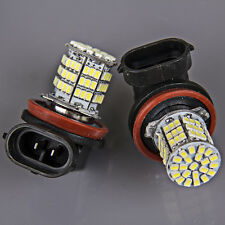 2x Super Bright H11 White 85-SMD LED Daytime Fog Day Driving Running Light Lamp