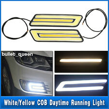 Pair LED Car White Daytime Running Light Daylight DRL Fog Driving Turn Lamp 12V