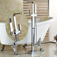 Floor Mouted Free-standing Bathtub Faucet Mixer Tap with hand Shower Tub set