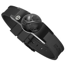 ProExl Golf Magnetic Bracelet in Black With Black Crossed Clubs Detachable Ball